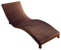 Grecian Wicker Outdoor Lounge Chair - Contemporary - Outdoor Chaise Lounges - by Great Deal Furniture