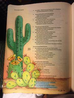 Isaiah 35:6. Streams in the desert. Sherrie Bronniman - Art Journaling: In My Bible