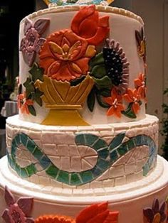 Mosaic Cake spotted at the 2010 Boston Flower and Garden Show; baker unknow (via Cakewrecks' Sunday Sweets)