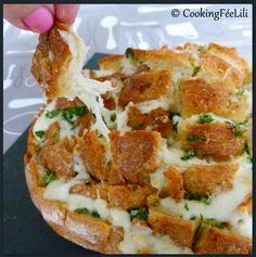 Cooking Fée Lili: Pain Hérisson à l'Ail et à la Mozzarella