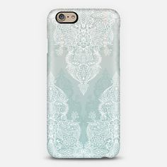 #teal #white #neutral #grey #soft #color #lace Phone Case | iPhone 6 | Casetify | Portrait | Graphics | Painting  | Micklyn Le Feuvre