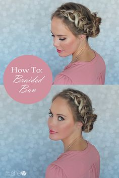 Beautiful braided bun tutorial