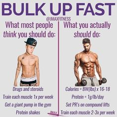 BULK UP FAST by - Visit the link in my bio to get your free muscle building workout. - Most guys think that in order to bulk up fast they need to eat like crazy use steroids drink protein shakes non-stop and get a giant pump in the gym Build Muscle Fast, Gain Muscle, Protein Shakes, High Protein, Muscle Building Workouts, Gym Workouts, Bodybuilder, Fitness Tips, Fitness Motivation