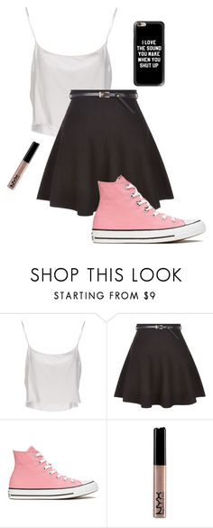 """""""Nice"""" by turtle-pie17 ❤ liked on Polyvore featuring Jean-Paul Gaultier, New Look, Converse, NYX and Casetify"""