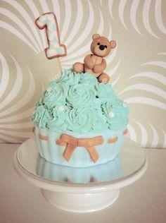 Teddy Bear Smash Cake - Cake by Dasa