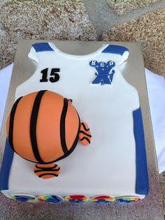 Tarta camiseta de baloncesto- Basketball cake Sazono y me lo como