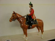 Beswick Queen Elizabeth II trooping the colour horse and rider