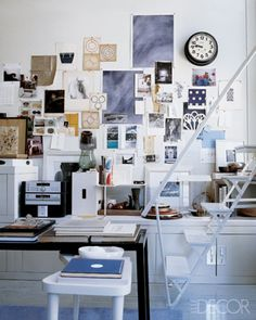 Office, designed by Thomas O'Brien in Elle Decor