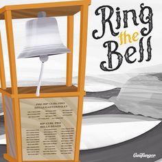Ring The Bell   Bells Beach - Australia  Guiifanger SurfArt  #bellsbeach #ringthebell #wsl #surfart #surfing #surfdesign by guiifanger_surfart http://ift.tt/1KnoFsa