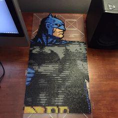 Batman pixel perler art by Nick Galilei