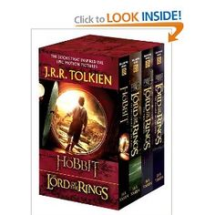 "J.R.R. Tolkien : The Hobbit and The Lord of the Rings: The Hobbit, The Fellowship of the Ring, The Two Towers, The Return of the King  Haven't read ""The Hobbit"" ...soon"