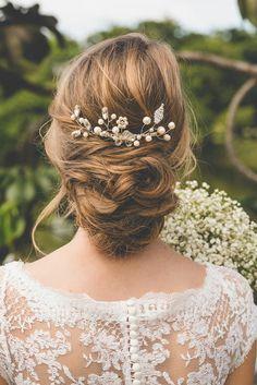accessoires cheveux coiffure mariage chignon mariée bohème romantique retro, BIJOUX MARIAGE (93)