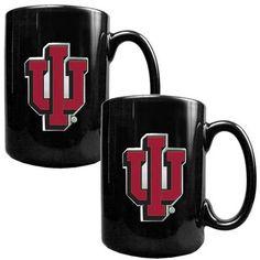 Indiana University Hoosiers Black Coffee Cup Set