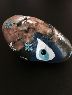 Beautiful Natural Stone Paperweight  with Hand by MelsGoodLuckShop