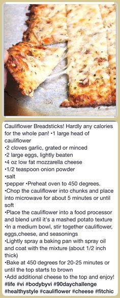 Cauliflower pizza bread