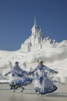 Ice Skating Show at the Ice and Snow Festival in Harbin, China