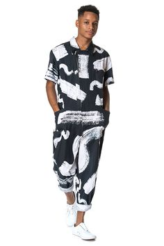 Out There Jumpsuit by LETA SOBIERAJSKI on Print All Over Me. #paomjumpsuit #paomfavs