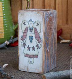 """Купить Подсвечник из массива сосны""""Ангельский подарок"""" - коричневый, подсвечник, подсвечник ручной работы, подсвечник из дерева"""