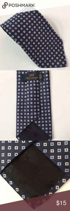 Brook Brothers Men Necktie Brooks Brothers Maker Necktie Men's Tie Blue/White Grids Pure Silk Made in USA Brooks Brothers Accessories Ties