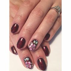 Lovely new nails (hand painted by Sophie Dale aka Nancy Loves Nails)