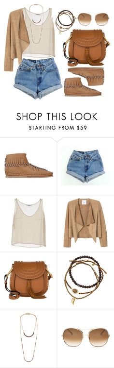 """""""Lapel Leather Jacket"""" by wolfiexo ❤ liked on Polyvore featuring Alexander Wang, Levi's, Valentino, MANGO, Chloé, Tai and Isabel Marant"""