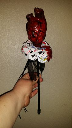 Queen of Hearts scepter Realistic Human Heart by HollyHorrorShop