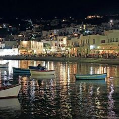 Mykonos Old Port at Night. A view of the busy summer old port of Mykonos island, , Mykonos Hotels, Mykonos Town, Mykonos Greece, Mykonos Island, Old Port, Paradise On Earth, Greece Travel, Countries Of The World, Greek Islands