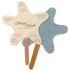 DIY Beach Wedding Inspiration Idea -create your own Starfish-shaped Beach Wedding Programs/fan to keep guest cool.