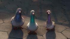 New York pigeons, Bolt, Disney Screencaps.com