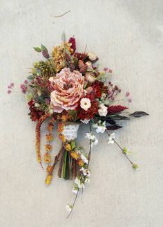 Omg isnt this bouquet sooo pretty?  It's totally ARTIFICIAL and a KEEPSAKE!  No wilting and uber vibrant blooms...LOVE!  Check out this item in my Etsy shop https://www.etsy.com/listing/260460626/wedding-bouquet-bridal-bouquet-silk