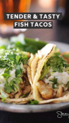 Best Fish Taco Recipe, Fish Recipes, Seafood Recipes, Mexican Food Recipes, Salad Recipes, Healthy Cooking, Healthy Eating, Cooking Recipes, Healthy Recipes