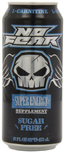 No Fear, Sugar Free, 16-Ounce Cans (Pack of 12) - No Fear, Sugar Free, 16-Ounce Cans (Pack of 12)  List Price: $29.88   Pack of twelve, 16-Ounce (total of 192-Ounces) Super energy supplement Brand new taste Delivers an extra kick and boost needed    List Price: $29.88 Your Price: $28.00-   No Fear, Sugar Free is a super energy supplement with a brand new taste that delivers an extra kick and boost you need. The toughest can on the shelf by far.  Your Price: $28.00 –  -h