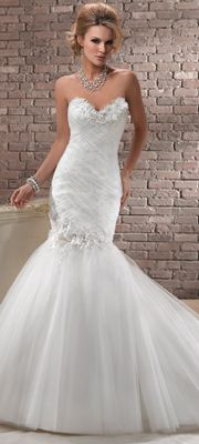 Maggie Sottero Spring 2013 - Camille Ivory Lace & Tulle Mermaid Wedding Gown
