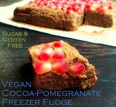 Vegan Cocoa Pomegranate Freezer Fudge