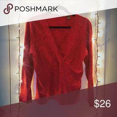 LIZ CLAIBORNE BLOUSE V neck red blouse. Liz Claiborne Tops Blouses