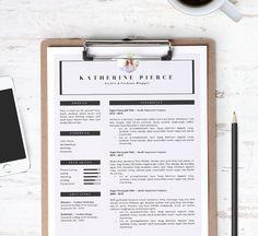 Resume Template 3pk  Cover Letter Template Custom by pixelandoak