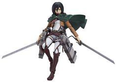 Amazon.com: Good Smile Attack on Titan: Mikasa Ackerman Figma Action Figure: Toys & Games