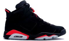 Air Jordan 6 Retro+ Black/Deep Infrared  My favorite Jordans. I wish they still made these.