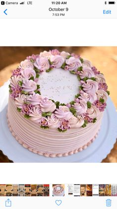 All Time Easy Cake : Pink Cake - Recipes - # recipes # pink, Creative Cake Decorating, Creative Cakes, Cookie Decorating, Gorgeous Cakes, Pretty Cakes, Amazing Cakes, Cake Pink, Rose Cake, Buttercream Cake Designs