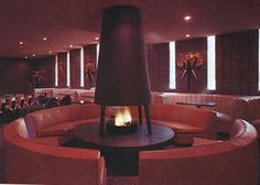 Safari Hotel - Scottsdale, Arizona -- Conversation pit so you can discuss what is on the walls.