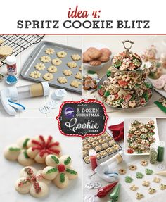 Spritz cookies are perfect for Christmas. They're fast and easy. This blog post from @michaelsstores has some great tips for making spritz cookies this beautiful.