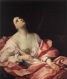 Guido Reni. Cleopatra. Óleo sobre lienzo. Colección Real, castillo de Windsor, Londres. WikiPaintings.org