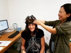 Fun with #eeg ! After my presentation at the #Huntington #Medical Research Institute in Pasadena I got a tour of the facility & got to learn about the #cuttingedge #research that's going on there including this #traumaticbraininjury research led by the lovely Dr. Xianghong Arakaki PhD (the comedienne fitting me with the #cyborg metal pronged EEG brain-reading helmet! :) ) (more coming soon about using my #redjuvenator #3 for treating #tbi ! :) )  Now THAT's my idea of a fantastic day! :)…