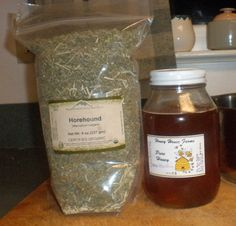 """Make Your Own Horehound Cough Drops ~~~OMG! My Grandma Coleman used to make """"horehound candy"""" and give it to us when we were visiting and had a cough. I LOVE this recipe because it is all natural and can use local honey to make target the healing to seasonal allergies, too!~~~"""