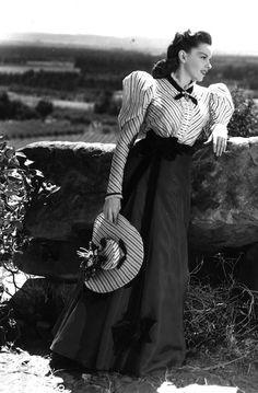 "Judy Garland (June 10, 1922 – June 22, 1969) on the set of ""The Harvey Girls"". (1945)"