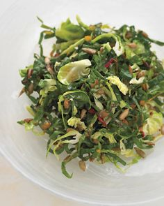 This raw Brussel Sprout & Kale salad is incredible!! Used Walnut oil instead of sunflower and it was fantastic.