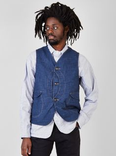 Couverture and The Garbstore - Mens - Post Overalls - Royal Traveller Vest