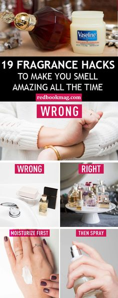 STYLEQUEEN101 BEST FRAGRANCE HACKS: Get the most out of your pricey perfumes with these beauty secrets! Here you'll learn why it's best to store perfume away from bathrooms, how to make the scent last longer, and why you should always apply an unscented lotion before spraying your fragrance! Find the perfume tips and more beauty ideas here and at Redbookmag.com!