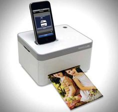 WANT! iphone photo printer, amazing gift idea! #cube