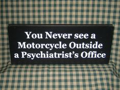 Biker sign funny motorcycles dad bikers by HeritagePrimitives, $11.95